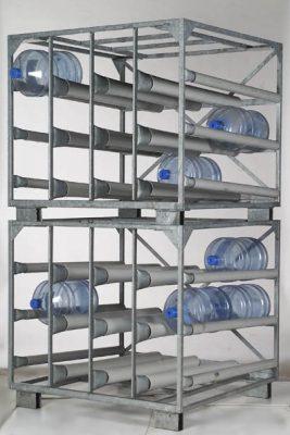 Rack sur mesure à bonbonnes d'eau RollsRapides